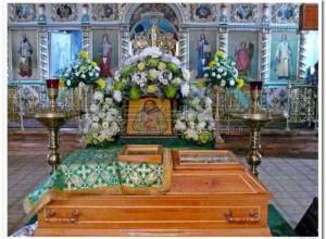Рака с мощами преподобного Илариона Троекуровского