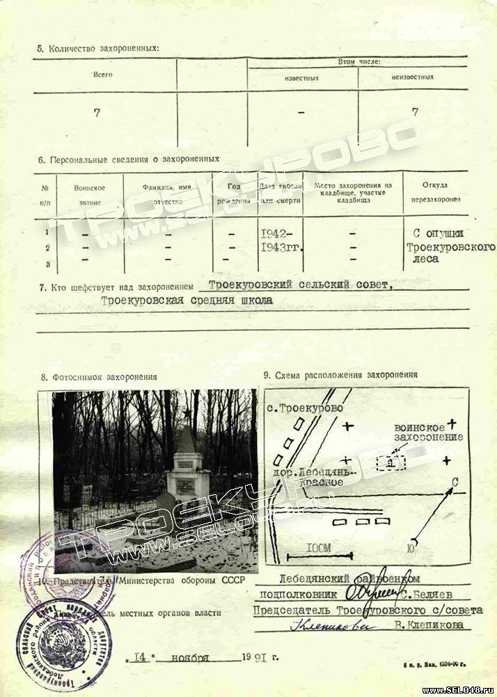на Троекуровском кладбище)